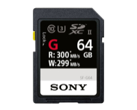 Sony SDXC Card  64GB Prof UHS-2 R300 / W299