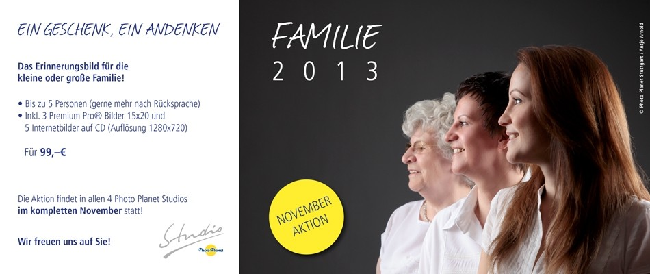 November-Aktion Familie 2013